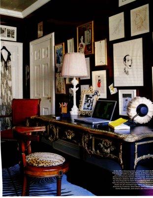 Amy Fine Collins write on Hugh Hefner's desk
