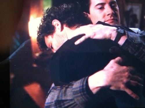 Twin peaks man hug