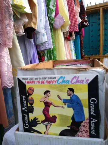Cha Cha at the flea market