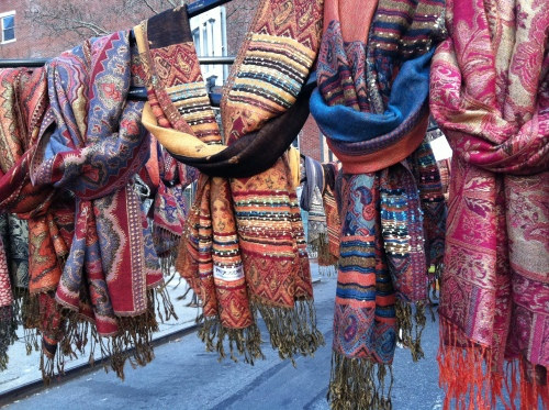 scarves at flea market
